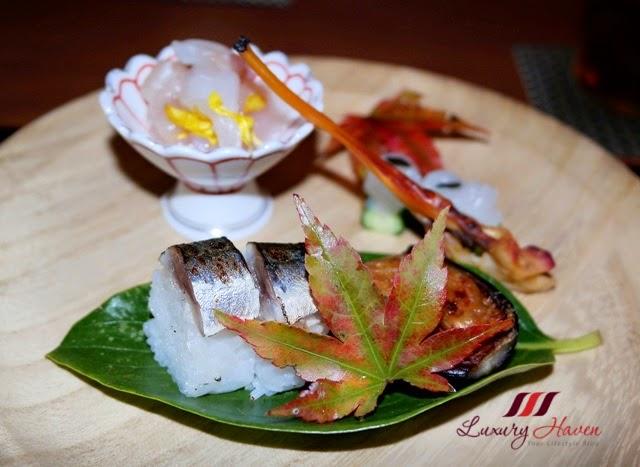 japanese akasaka kitafuku amuse bouche marinated tilefish