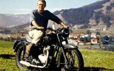A grande escapada' (1963) Moto: Triumph T6 Ator: Steve McQueen