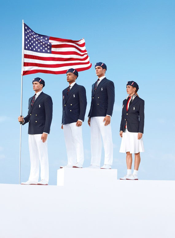US olympic uniform by Ralph Lauren