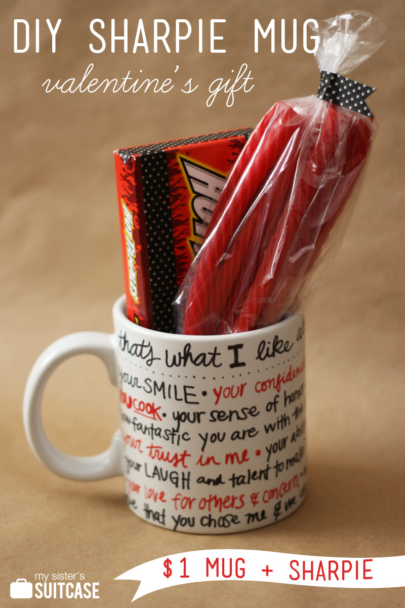 its a twist on the fun sharpie mug trend if you have no idea what im talking about heres the deal you can write on a ceramic mug or plate - Cheap Valentine Gifts