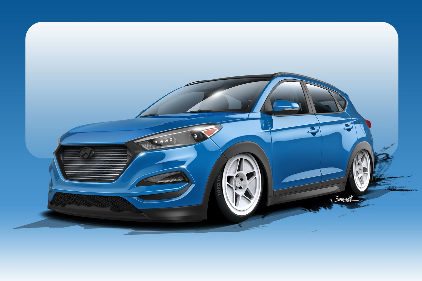 700 hp 2016 hyundai tucson study kicks off sema show countdown. Black Bedroom Furniture Sets. Home Design Ideas