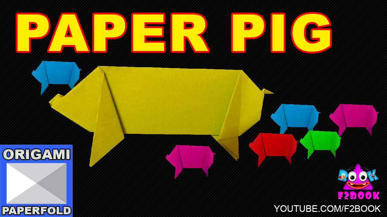 F2book january 2016 origami animal pig how to make paper folding instructions this origami pig is not difficult to fold and is a good addition to your origami animals jeuxipadfo Choice Image