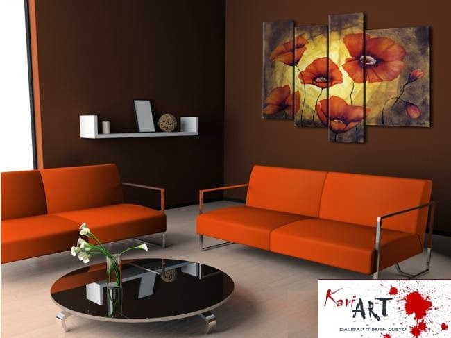 Cuadros flores para sala comedor dormitorio desd 250 soles s 390 00 en mercado libre - Cuadros minimalistas para sala ...