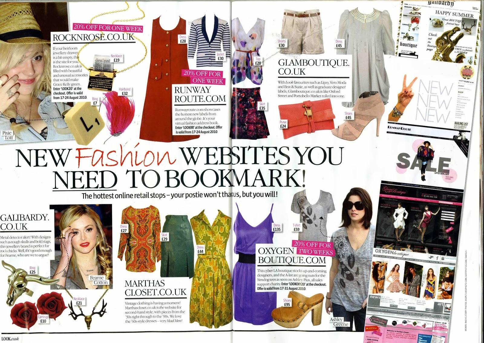 Fashion Magazine Page