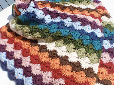 free crochet pattern Star Shell Baby Blanket