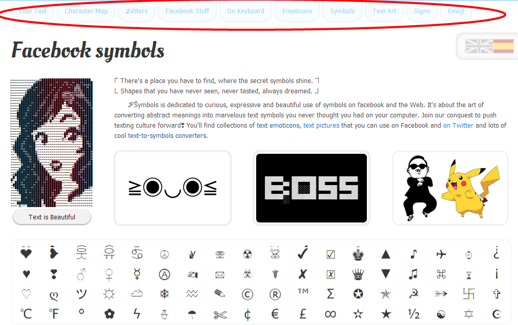 Cool Character Map Symbols Gallery Free Symbol Design Online