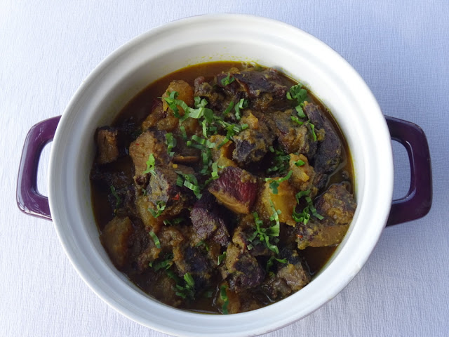 Smoked venison & ash gourd curry