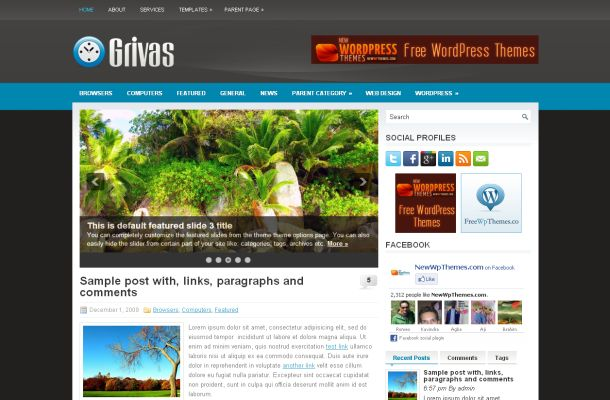 Business themes free wordpress themes free wordpress grey blue business theme template accmission Image collections