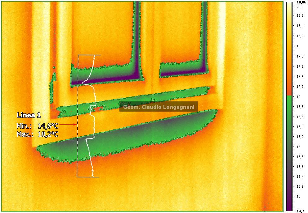Termografia ponti termici dei serramenti - Ponte termico finestra ...