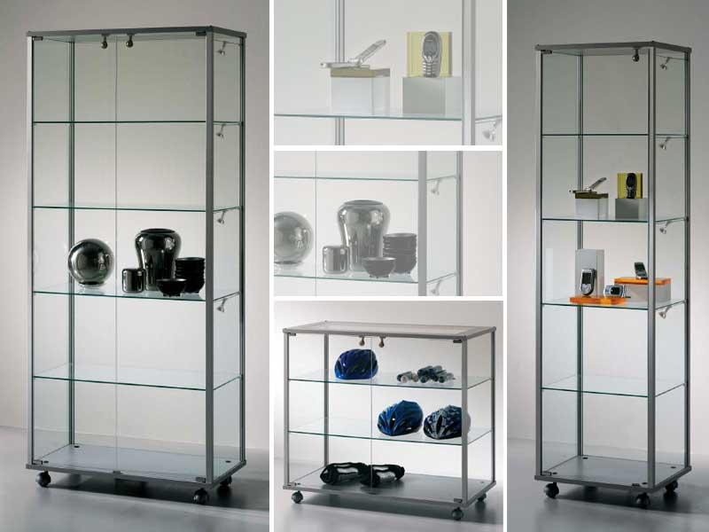 Fabricacion de vitrinas en vidrio y aluminio inversiones for Vitrinas cocina ikea