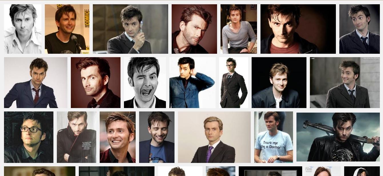 David Tennant, John Barrowman och  Matt Smith är de som dyker upp spontant i huvudet. Inte alls oväntat att de är Doctor Who-folk.