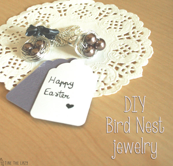 DIY Bird Nest Jewelry'