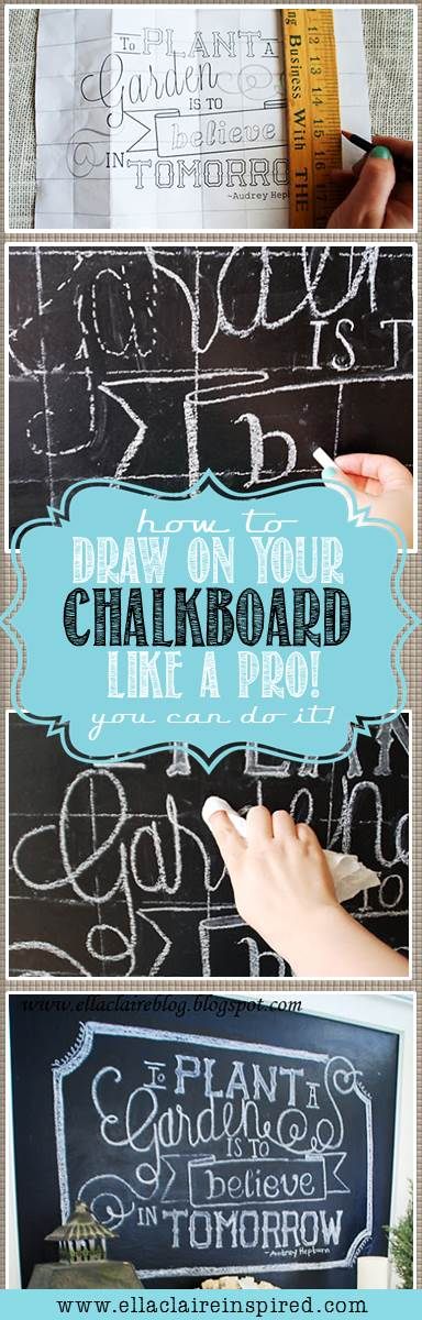 How to Draw on a Chalkboard. How to create chalkboard art.
