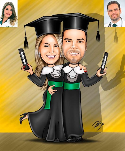 #festa #evento #canudo #capelo #medicina #medico #medica #doutor#caricatura
