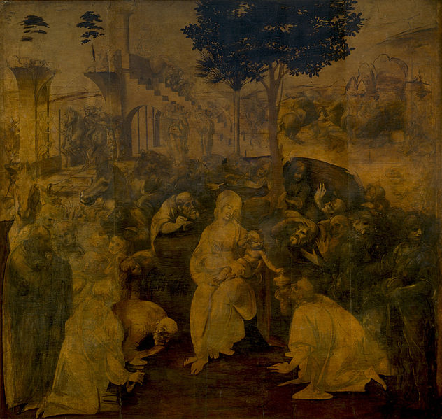 Leonardo's 'Adoration of the Magi.' Photo: WikiMedia.org.