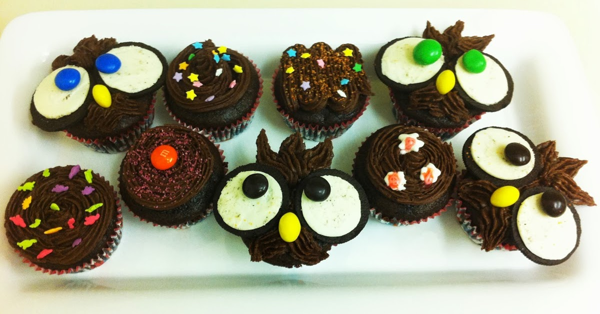Beene 39 s baking blog dark as night chocolate cupcakes for 4 h decoration ideas