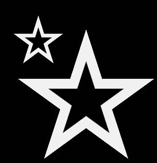 Stencil de estrellas night sky stencil the cookie - Plantilla estrella navidad ...