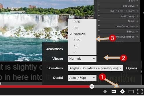paramètres de vidéo youtube