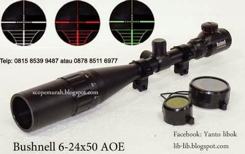 jual scope Bushnell 6-24x50AOE sunhade