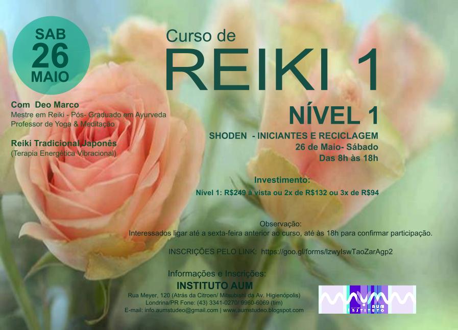 CURSO DE REIKI - NÍVEL 1 - INICIANTES