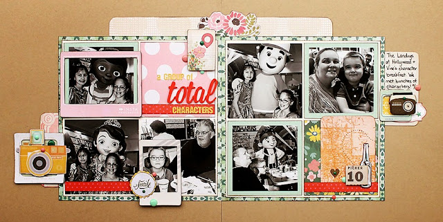 Character Breakfast_Scrapbook Page_Play And Dine_Disney