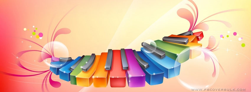Colorful Piano Facebook Timeline Cover