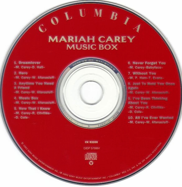 los 90 en mp3 ii mariah carey music box cd album 1993. Black Bedroom Furniture Sets. Home Design Ideas