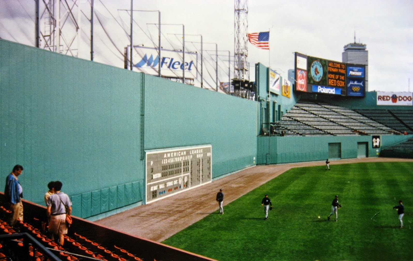 Fenway Park 1996... The Big Green Monster left field wall