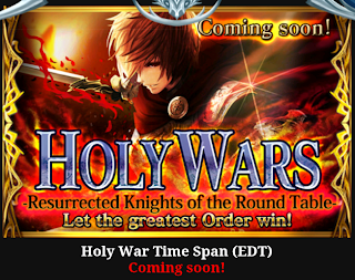Rage of Bahamut Holy Wars Resurrected Knights of the Round Table