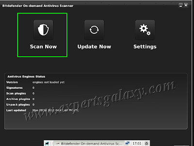 Bitdefender Rescue Scanner Options