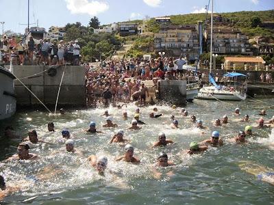 Natación - Travesía de la bahía de Piriápolis (31/ene/2015)