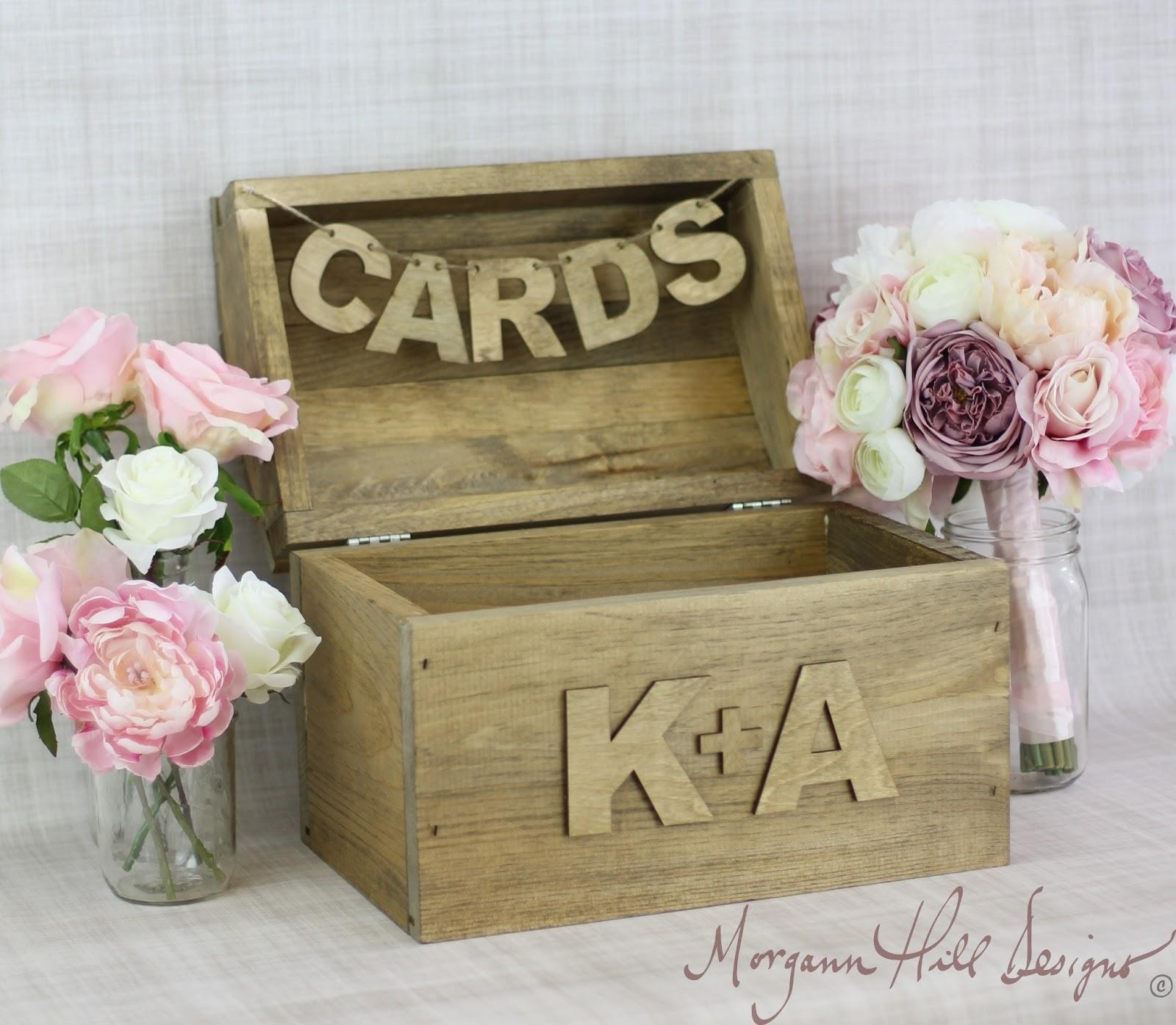 Morgann Hill Designs Personalized Rustic Card Box Country Wedding Barn Farm Garden Decor Item