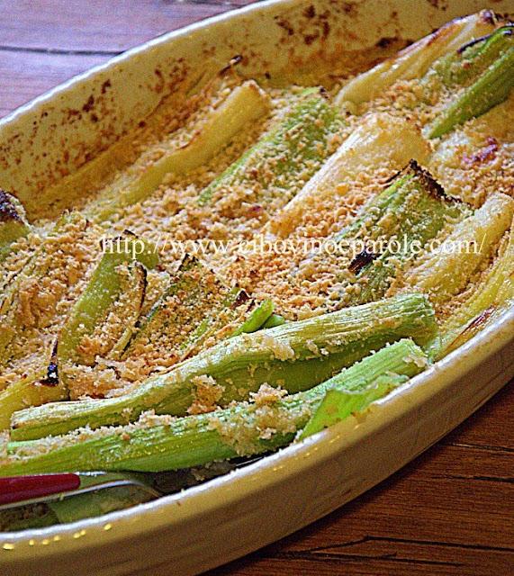 Porri gratinati- Leek gratin -verdura