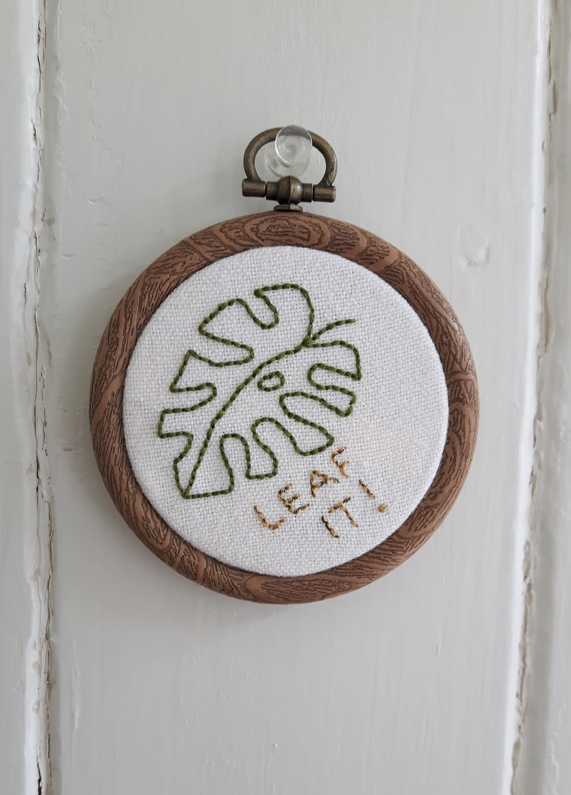 DIY embroidery art