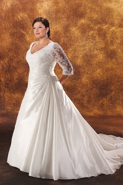 Plus size wedding gowns with sleeves enter your blog for Plus size wedding dresses for cheap