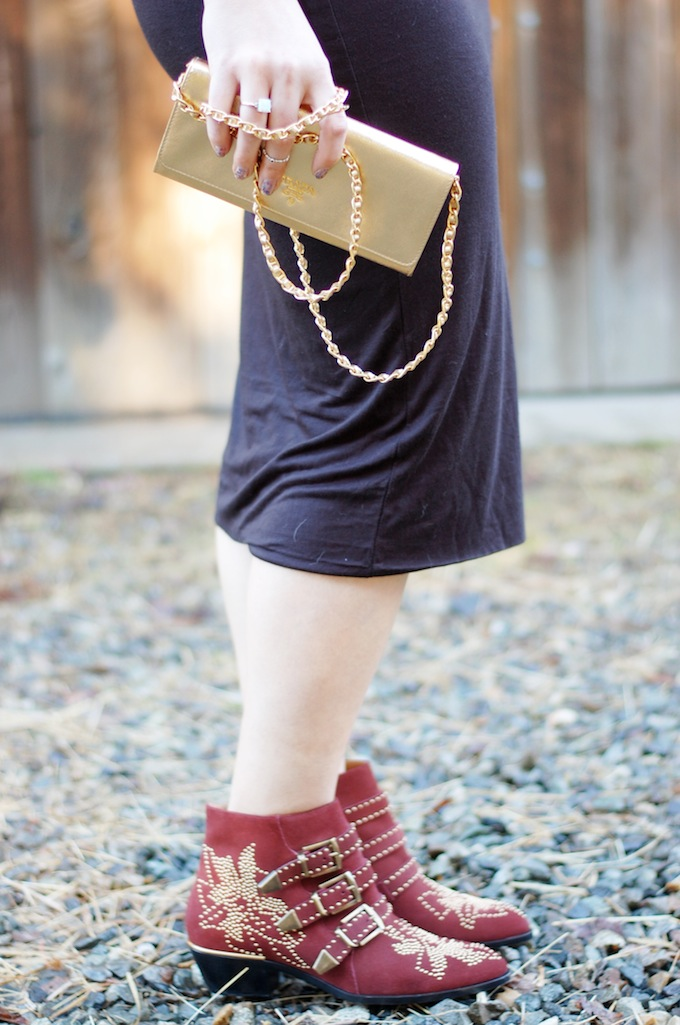 Asos leather top and Prada Saffiano Wallet on a Chain in gold Covet and Acquire Vancouver blog