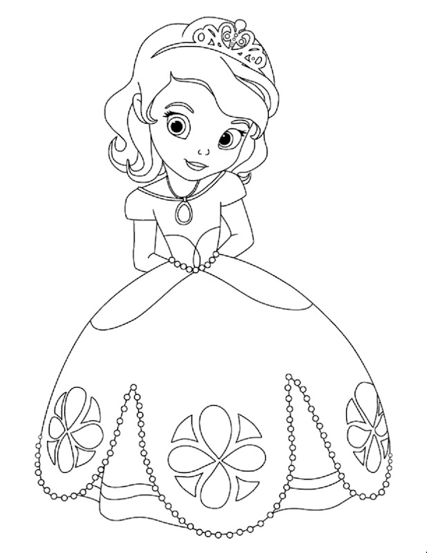Sofia the First Coloring Pages for all the little people out there title=