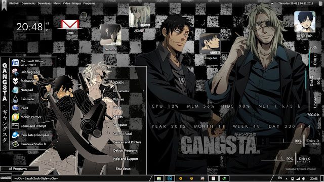 Theme Windows 7 GANGSTA. ギャングスタ By Bashkara