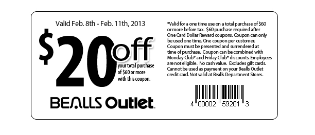 Bealls coupon booklet
