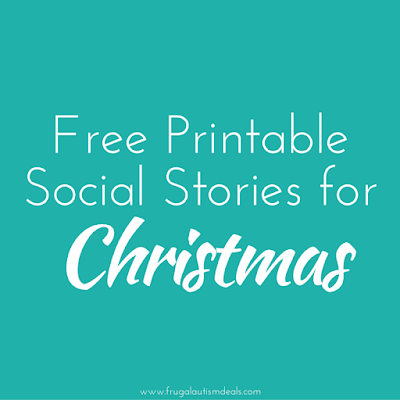 Free printable social stories about Christmas