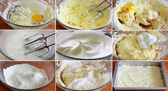 masa de bizcocho para tartas paso 1-9