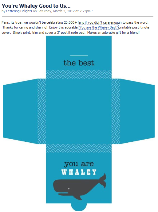 ld 20k freebie 7 you are the whaley best printable post it note cover