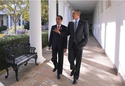 Foto Jokowi Obama 2015