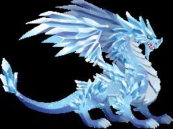 imagen del dragon glacial de dragon city