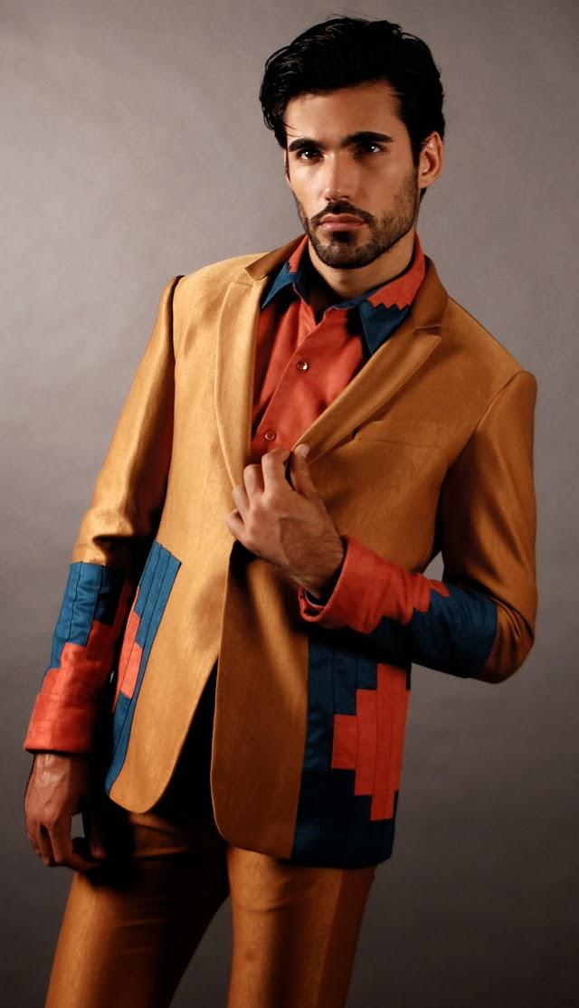 Daniel Kakoulidis veste peça da nova coleção do estilista Ranner Vidal. Foto: Ranner Vidal