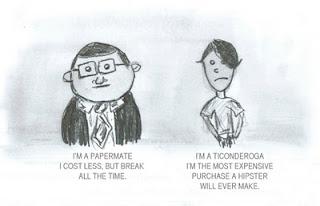 I am a papermate, I am a ticonderoga