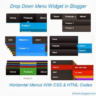 Drop Down Menu Widget in Blogger