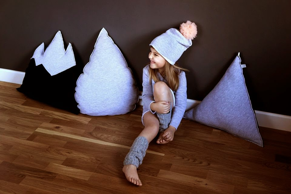 Handmade mountain cushions by Polish brand Kujukuju
