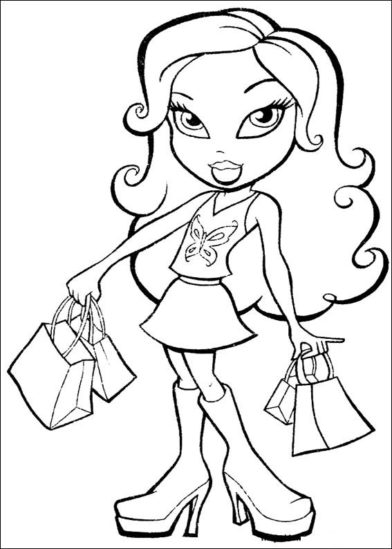 coloring pages bratz - photo#23
