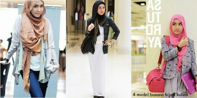 4 Model Busana Hijab Trendy untuk kuliah